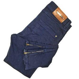 Zara Basic Vintage Deluxe Ankle Zip Skinny Jeans